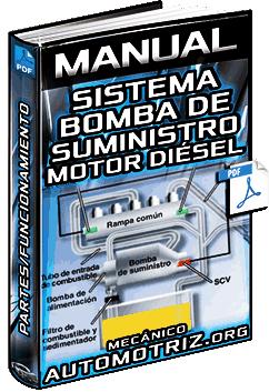 Manual: Sistema de la Bomba de Suministro del Motor Diésel - Partes y Funcionamiento