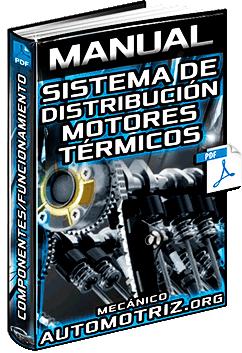 Manual: Sistema de Distribución de Motores Térmicos - Elementos, Mando y Diagrama