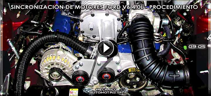 Video de Sincronización de Motores Ford V6 4.0L