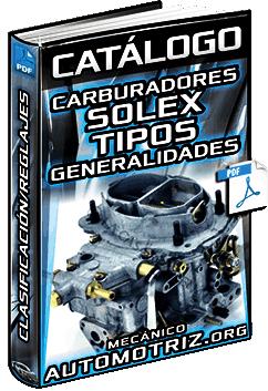 Catálogo: Carburadores Solex – Vehículos, Motores, Datos, Tipos y Fichas de Reglaje