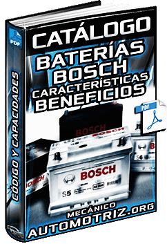 Catálogo de Baterías Bosch - Códigos, Capacidades, Características y Beneficios