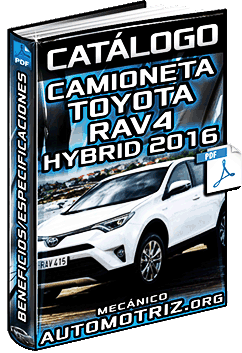 Catálogo de la Camioneta Toyota RAV4 Hybrid 2016 - Especificaciones Técnicas