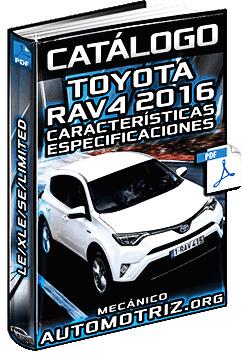Catálogo de Camioneta Toyota Rav4 2016 LE, XLE, SE y Limited