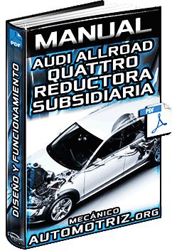 Manual de Audi Allroad Quattro con Reductora Subsidiaria - Estructura