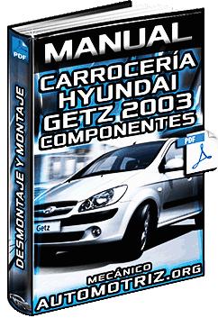 Manual de Carrocería (Interior/Exterior) de Hyundai Getz 2003 – Componentes
