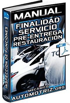 Manual de Finalidad del Servicio Pre-Entrega - Restauración e Inspección