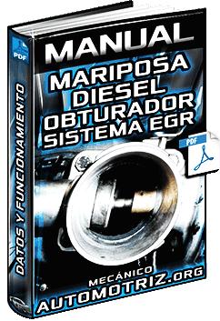 Manual de Mariposa Diesel, Obturador de Admisión y Sistema EGR - Funcionamiento