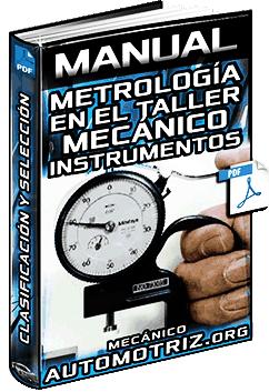 Manual de Metrología e Instrumentos de Medición - Clasificación y Selección