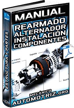 Manual de Rearmado del Alternador - Instalación del Rotor, Soporte y Polea