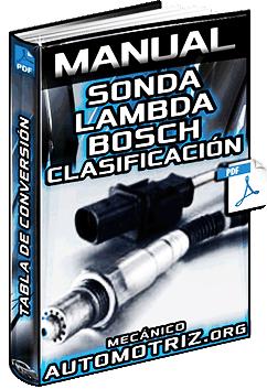 Manual de Sonda Lambda Bosch - Ventajas, Clasificación y Tabla de Conversión