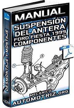 Manual de Suspensión Delantera de Ford Fiesta 1999 - Desmontaje y Montaje