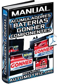 Manual: Baterías y Acumuladores Gonher - Funcionamiento, Componentes y Pruebas