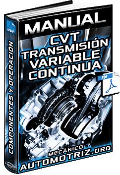 Manual de Transmisión Variable Continua CVT - Tipos, Componentes y Funciones