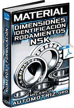 Material: Dimensiones y Números de Identificación de Rodamientos NSK