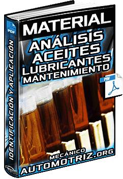 Material: Análisis de Aceites Lubricantes en el Mantenimiento Predictivo