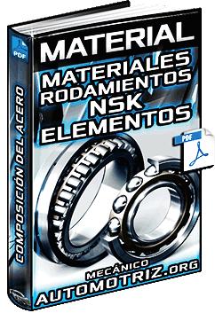 Materiales de Rodamientos NSK – Aros, Elementos de Rodadura y Jaulas