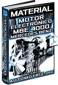 Material: Motor Electrónico MBE4000 Mercedes Benz – Especificaciones Técnicas