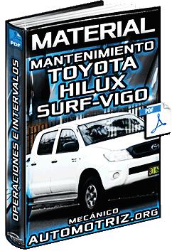 Operaciones de Mantenimiento de Toyota Hilux Surf-Vigo - Motor, Sistemas y Chasis