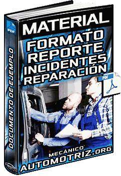 Material: Formato de Reporte de Incidente y Reparación RIR en Talleres