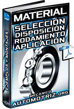 Material: Selección de la Disposición de Rodamientos NSK - Aplicaciones