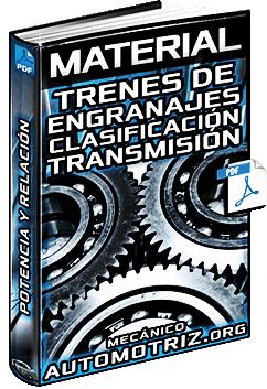 Trenes de Engranajes – Clasificación, Tipos, Transmisión, Potencia y Relación