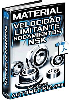 Velocidad Limitante de Rodamientos NSK - Corrección y Sellados de Caucho