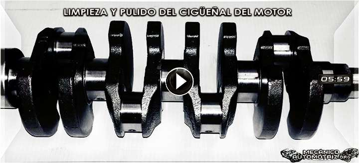 Vídeo de Cómo Limpiar y Pulir el Cigüeñal del Motor - Herramientas y Procedimiento