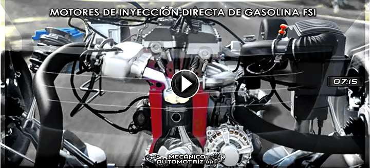 Vídeo de Funcionamiento de Motores FSI Inyección Directa de Gasolina - Animación