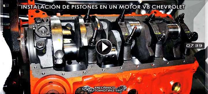 Vídeo de Instalación de Pistones en Motor V8 Chevrolet - Procedimiento y Pruebas