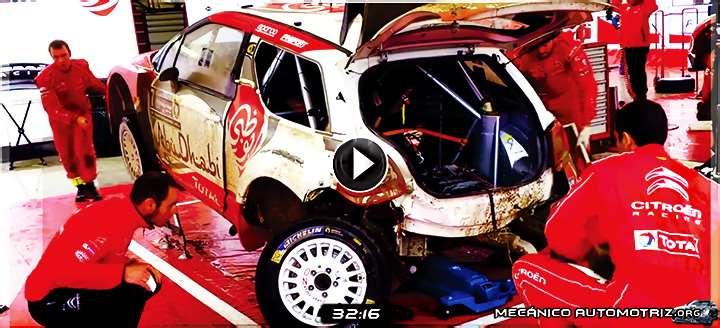 Vídeo de Mecánicos Reparando el Eje Posterior de un Citroen WRC en 30 Min