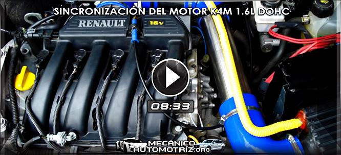 Vídeo de Sincronización del Motor K4M 1.6L - Diagnóstico y Especificaciones