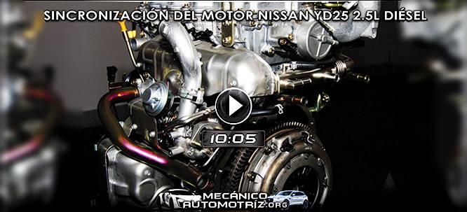 Vídeo de Sincronización del Motor Nissan YD25 2.5L Diésel - Diagnóstico