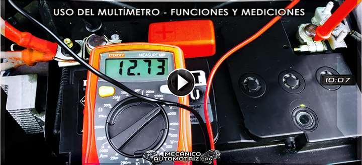 Vídeo de Uso del Multímetro – Funciones, Mediciones, Escalas y Configuraciones
