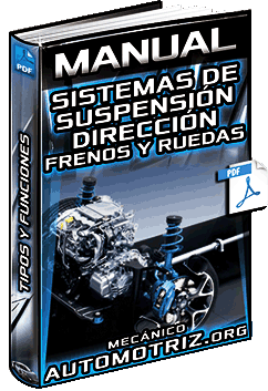 Manual: Sistemas de Suspensión, Dirección, Frenos y Ruedas – Tipos y Funciones