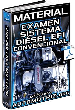 Material: Examen de Sistema Diésel de EFI Convencional – Inyección y Mecanismos