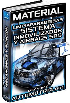 Material: Limpiaparabrisas, Aire Acondicionado, Sistema Inmovilizador y Airbag – Función