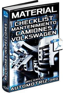 Material: Lista (Checklist) de Mantenimiento de Camiones Volkswagen – Inspecciones